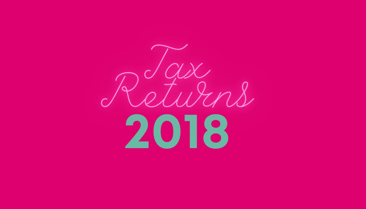 2018 tax reuturns