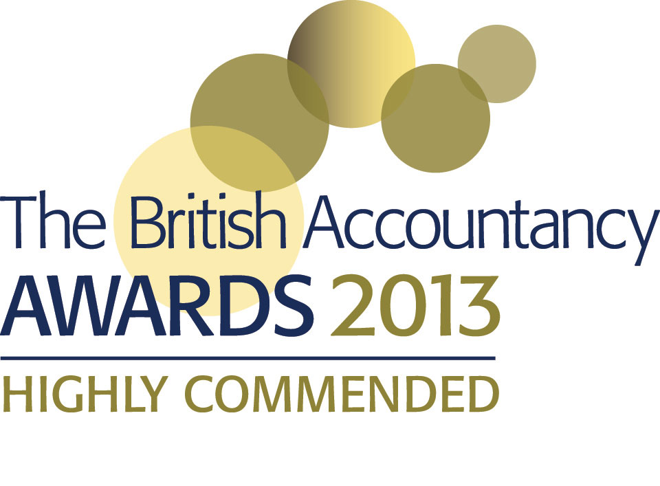 British accountancy awards 2013 highly commended