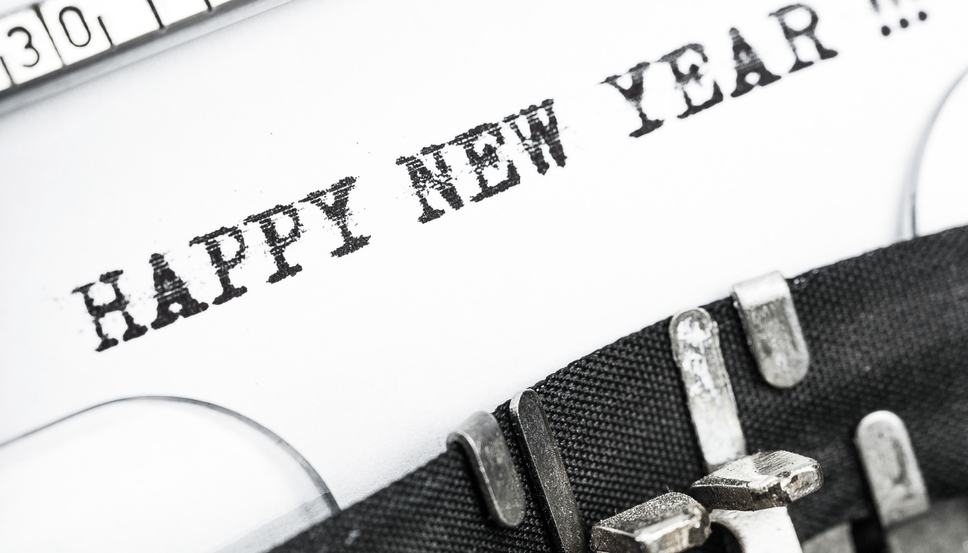 happy new year typewriter