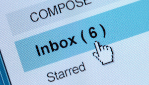 An inbox showing 6 emails