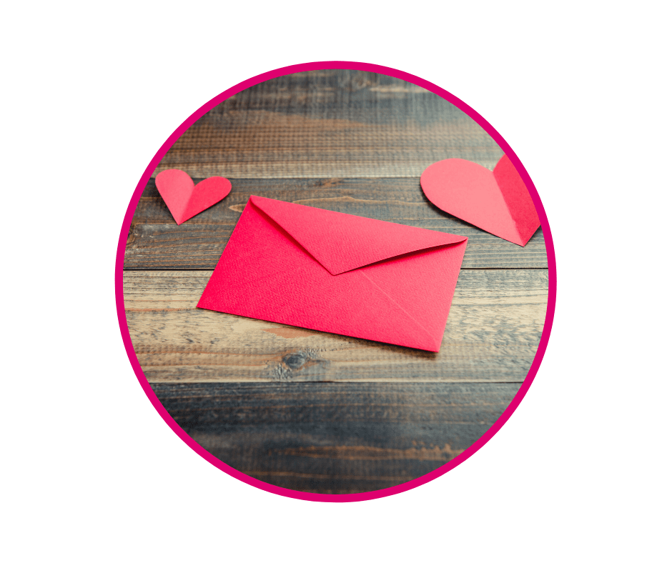 Red envelope and hearts