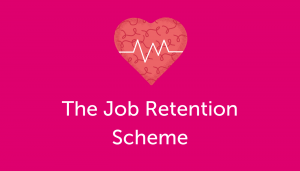 Heart with life line. The Job Retention Scheme.