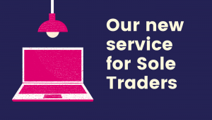 Computer with light. New service for sole traders