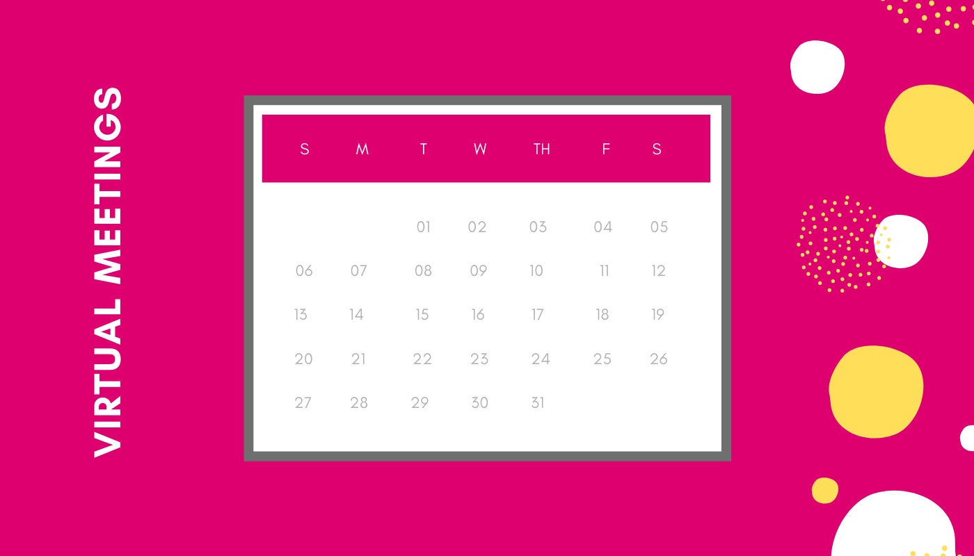 Calendar - virtual meeting