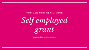 self employed grant written on pink background