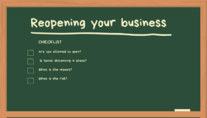 Reopening your business chalk board