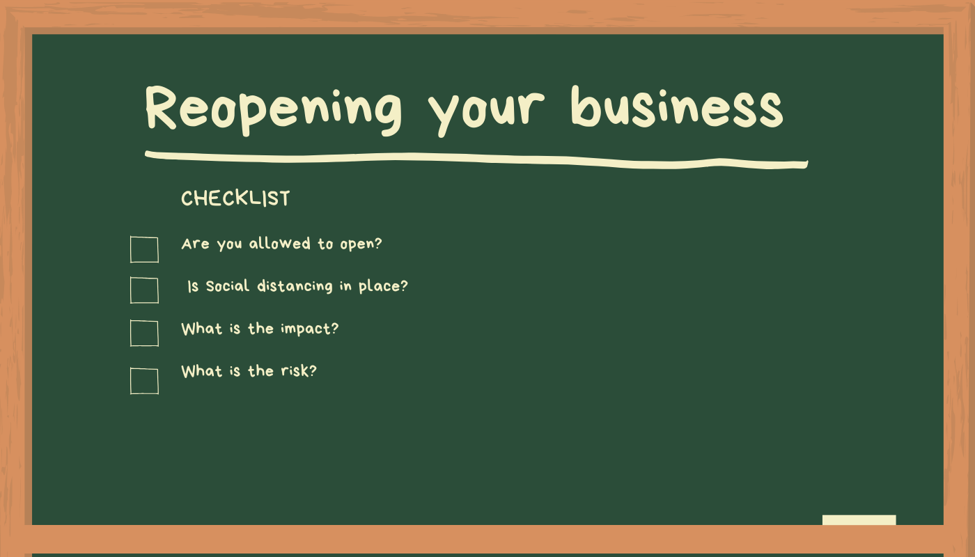 Reopening your business checklist ​