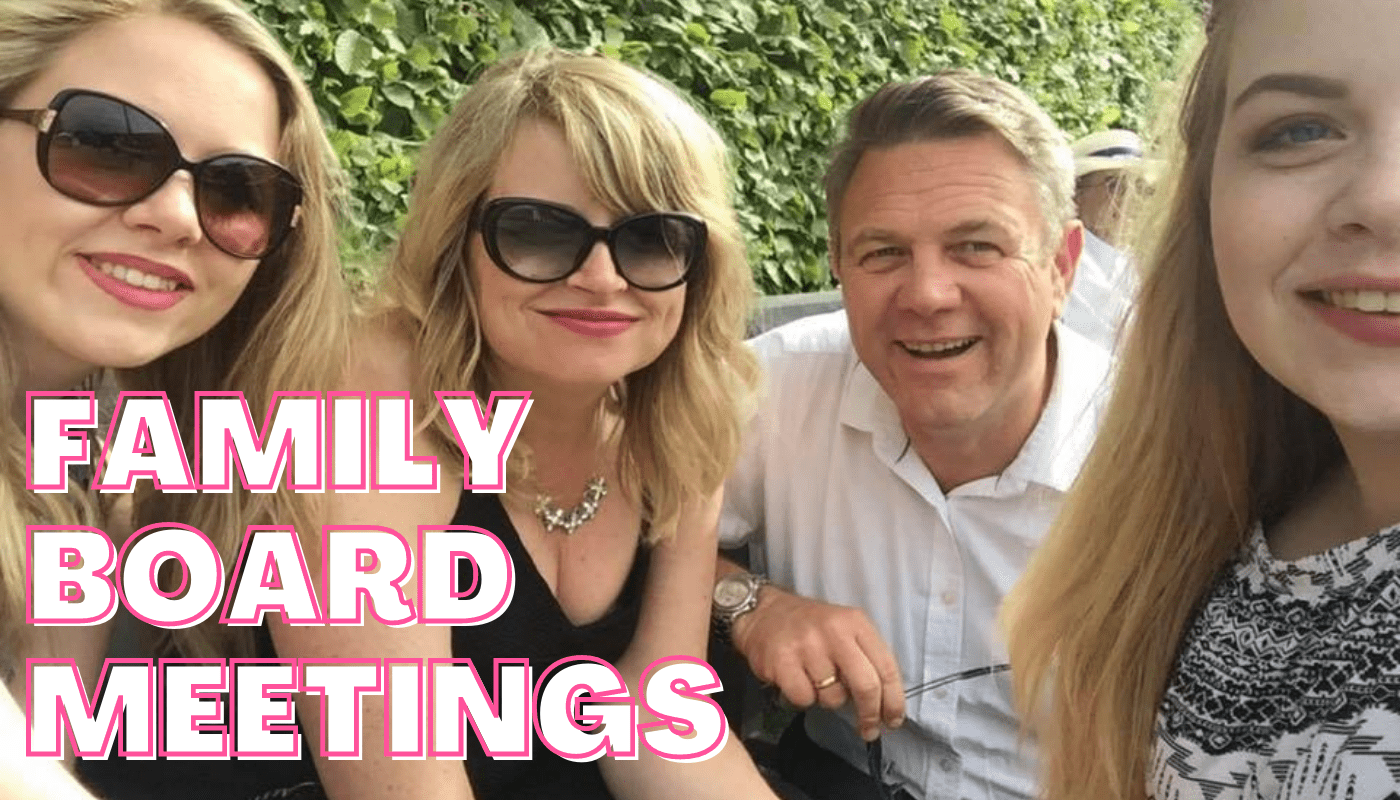 Family board meetings – you still need to take minutes