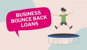 Business bounce back loan - boy on trampoline