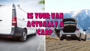 a Van and a car
